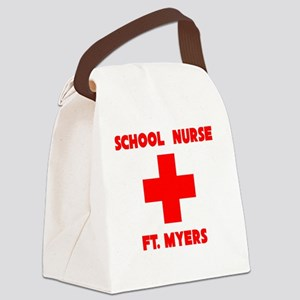 School Nurse Fort Myers Canvas Lunch Bag