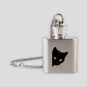 Black cat Flask Necklace