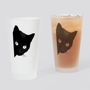 Black cat Drinking Glass