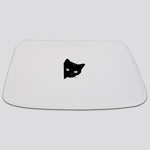 Black cat Bathmat