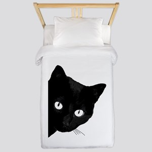 Black cat Twin Duvet Cover