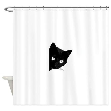 Superieur Black Cat Shower Curtain