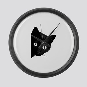 Black cat Large Wall Clock