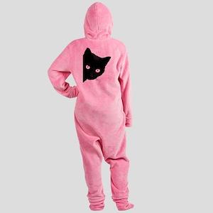 Black cat Footed Pajamas