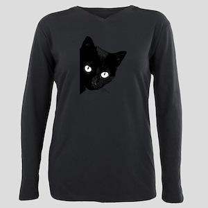 Black cat Plus Size Long Sleeve Tee