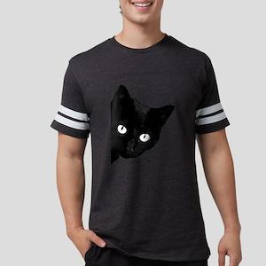 Black cat Mens Football Shirt