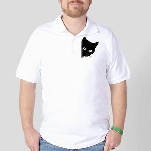 Black cat Polo Shirt