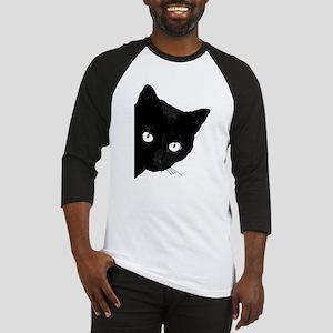 Black cat Baseball Tee