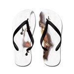 Abstract Saxophone player Flip Flops