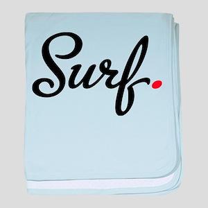 surf baby blanket