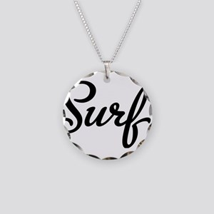 surf Necklace Circle Charm