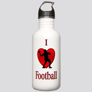I Heart Football Stainless Water Bottle 1.0L