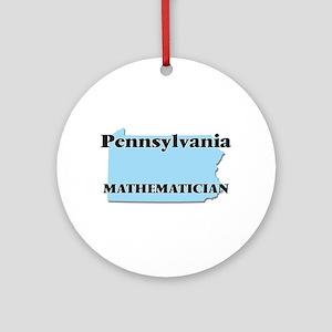 Pennsylvania Mathematician Round Ornament