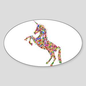 Prismatic Rainbow Unicorn Sticker