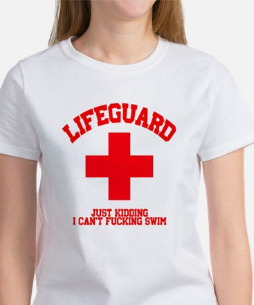 Lifeguard Just Kidding Women's T-Shirt