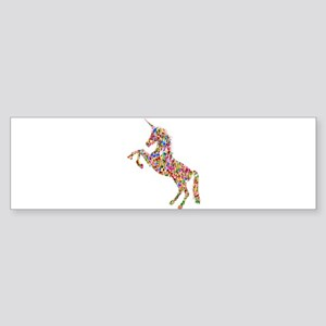 Prismatic Rainbow Unicorn Bumper Sticker