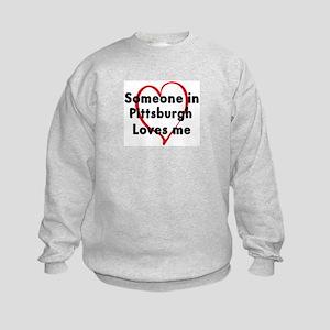 Loves me: Pittsburgh Kids Sweatshirt
