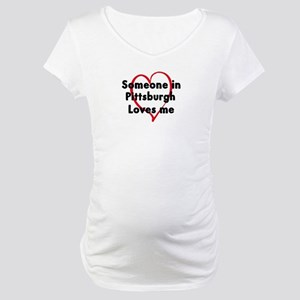 Loves me: Pittsburgh Maternity T-Shirt