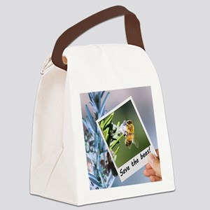 No bees is a negative! Canvas Lunch Bag