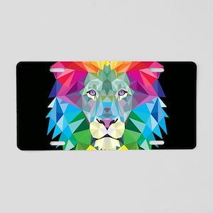 Rainbow Lion Aluminum License Plate