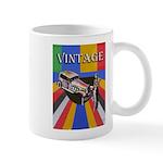 Vinatge Poster Design With Car And Female Mugs