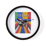 Vinatge Poster Design With Car And Wall Clock