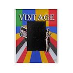 Vinatge poster design with car and female model 19