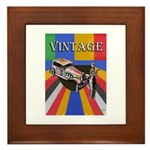 Vinatge Poster Design With Car And Framed Tile
