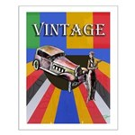 Vinatge Design With Car And Female Small Poster