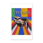Vinatge Poster Design With Car 20x12 Wall Decal