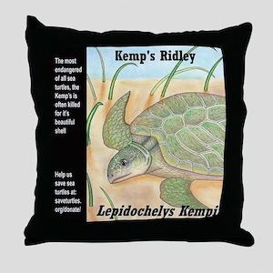 Sea Turtle Kemp's Ridley Throw Pillow