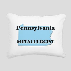 Pennsylvania Metallurgis Rectangular Canvas Pillow