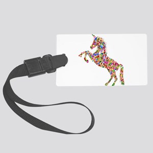 Prismatic Rainbow Unicorn Large Luggage Tag