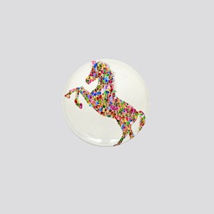 Prismatic Rainbow Unicorn Mini Button