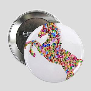 "Prismatic Rainbow Unicorn 2.25"" Button"