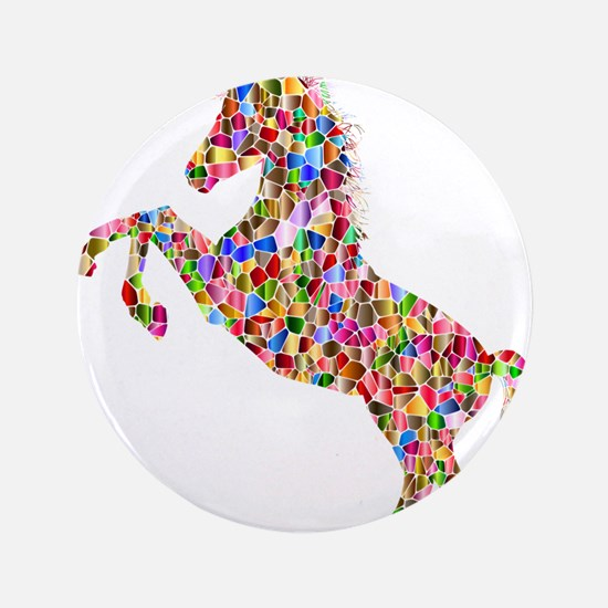 Prismatic Rainbow Unicorn Button