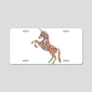 Prismatic Rainbow Unicorn Aluminum License Plate