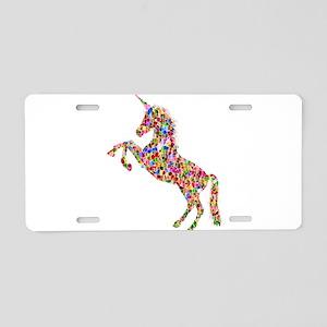 Prismatic Rainbow Unicorn Aluminum License Plate