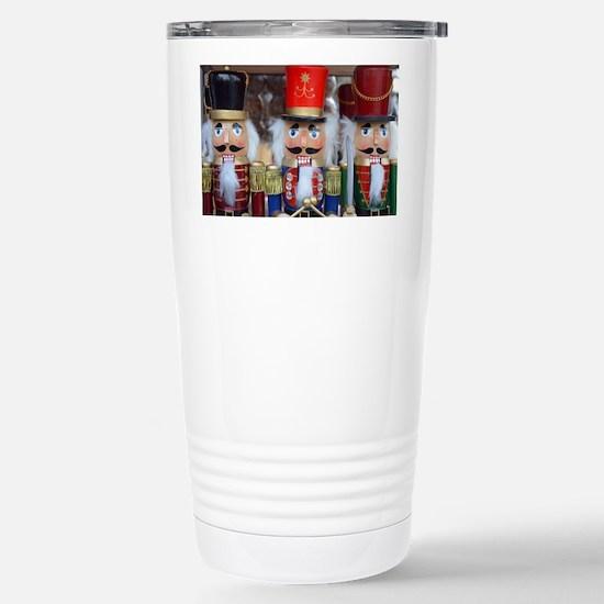 Three christmas nutcrac Stainless Steel Travel Mug