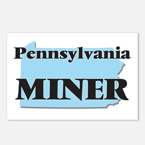 Pennsylvania Miner Postcards (Package of 8)