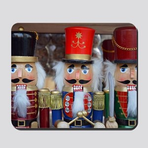 Three christmas nutcrackers Mousepad
