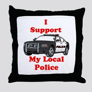 Support Local Police Throw Pillow