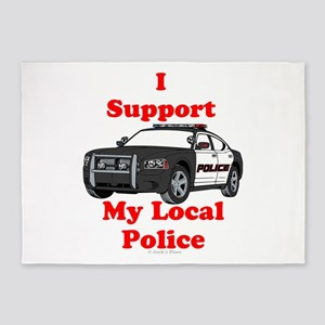 Support Local Police 5'x7'Area Rug