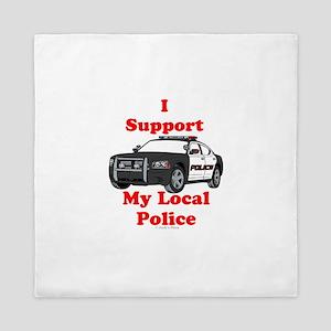 Support Local Police Queen Duvet