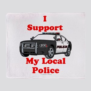 Support Local Police Throw Blanket