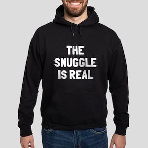 The snuggle is real Hoodie (dark)