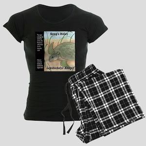 Sea Turtle Kemp's Ridley Women's Dark Pajamas