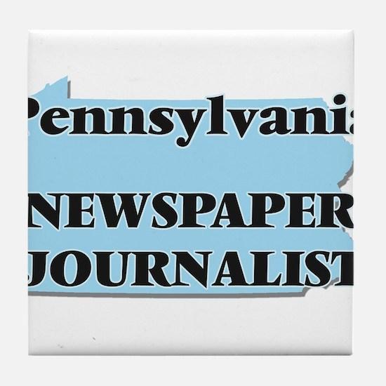 Pennsylvania Newspaper Journalist Tile Coaster