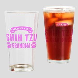 Worlds Best Shih Tzu Grandma Drinking Glass
