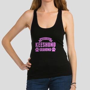 Worlds Best Keeshond Grandma Racerback Tank Top
